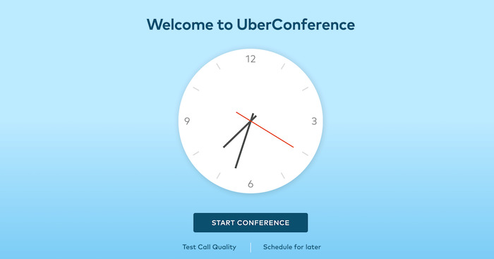 Conference calling clock used for UberConfernce