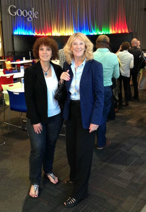 Janet & Gillian at Google's cafeteria