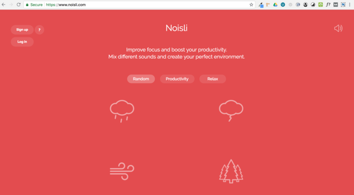 Noisli white noise red