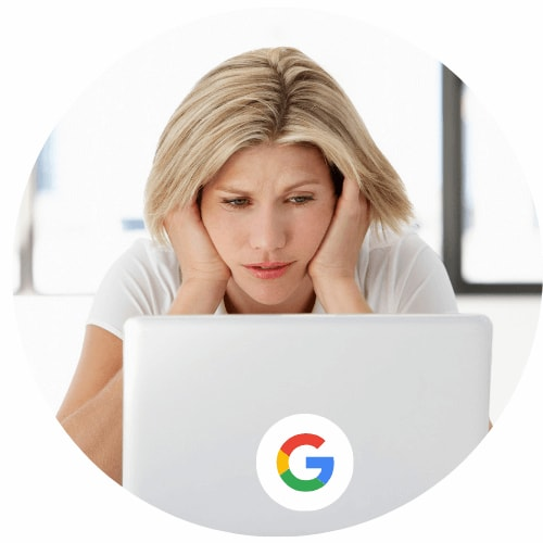 girl feeling sad that she has no website traffic